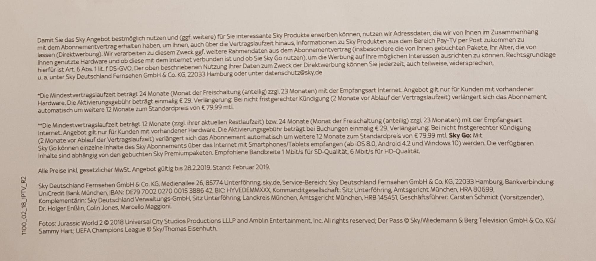 Sky Deutschland Fernsehen Gmbh & Co Kg 22033 Hamburg